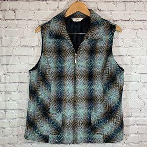 Christopher & Banks Plaid Vest Size X